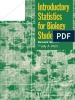 T. a. Watt (Auth.) Introductory Statistics for Biology Students