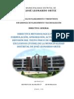 Directiva Para La Formulación_Aprobacion Del TUSNE-JLO-2016