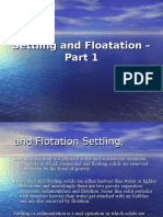 Settling and Floatation Part 1