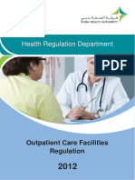 Outpatient Care Facilities Regulation - Dubai