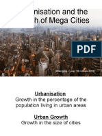2 Urbanisation and Megacities