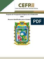 Proyecto de Presupuesto de Egresos de La Federación 2016