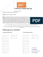 ywca womens shelter spa day sign up