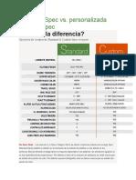 Estándar Spec vs Especializada PCI