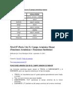 Grados Más Utilizados en El Campo Armónico Menor