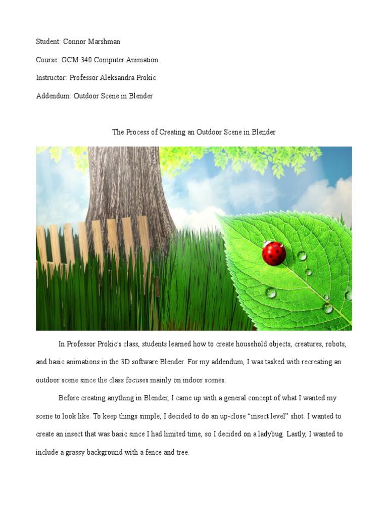 Making a Garden Scene in Blender | Adobe Photoshop | Texture