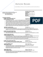 a  bushek resume 2015 website