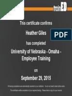harassment certification