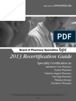 2013 BPS Recertification Guide