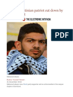 Young Palestinian patriot cut down by Israeli bullet.odt