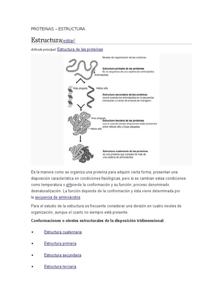 Proteinas Estructura