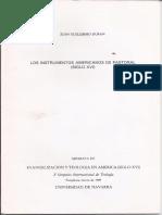 Los Instrumentos Americanos de Pastoral (SXVI) J. G. Duran