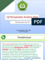 P13 Uji Persyaratan Analisis Data-libre