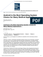 Android is Best OS Choice for Medical Applications - Alan Cohen