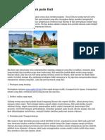 Tips Rekreasi Murah pada Bali