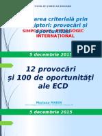 12 provocări și 100 de oportunități de implementare a evaluării criteriale prin descriptori