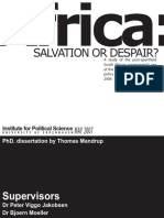 Africa Salvation or Despair