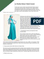 Trik Memilih Busana Muslim Dalam Tubuh Gemuk