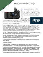 Recensione Nikon D5500 - Corpo Macchina e Design