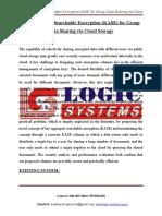 LSJ1526 - Key-Aggregate Searchable Encryption (KASE) for Group Data Sharing via Cloud Storage