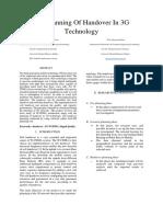 The Planning og Handover in 3G Technology