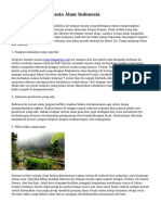 Tips Liburan ke Wisata Alam Indonesia
