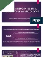 Áreas Emergentes en El Ejercicio de La Psicología 1