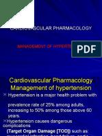 Cardiovascular Pharmacology ANTI-hypertension