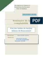 Rapport ESG Et Tableau de Financement