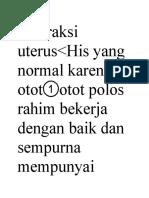 Kontraksi Uterus