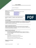 UT Dallas Syllabus for opre6271.pjm.09f taught by James Szot (jxs011100)