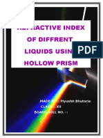 Refractive Index of Different Liquids Using Hollow Prism