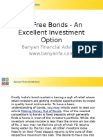 Tax Free Bonds - An Excellent Investment Option - Copy