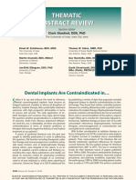 Dental Implants Are Contraindicated in...