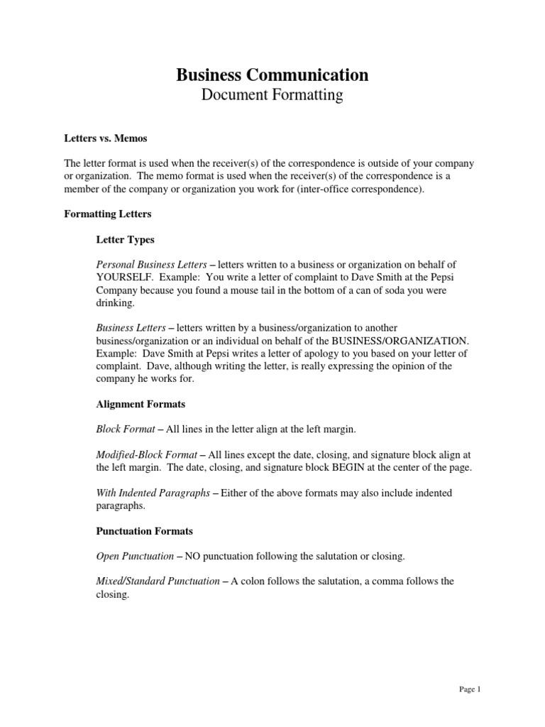 Formatting punctuation memorandum spiritdancerdesigns Images