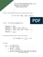 Control 8 - Ecuaciones Diferenciales (2000)