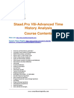 Staad.pro V8i-Advanced Time History Analysis-Course Contents