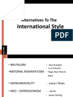 Alternatives to the International Style