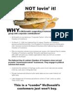 FRC's McDonald's flier