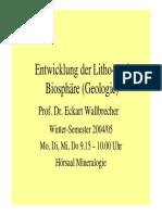 Lithosphaere I