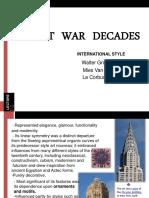 Post War Decades-International Style