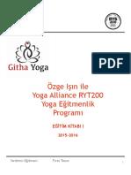 Yoga hocalık eğitimi