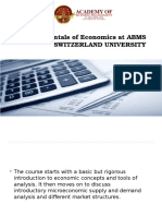 Fundamentals of Economics at Abms Switzerland University