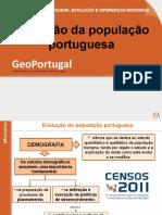 A Evolução Da População Portuguesa - GeoPort.