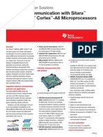 TI - Texas Instruments - sprt622 - Design Fact Sheet - Industrial Communication with Sitara TM AM335x ARM ® Cortex TM -A8 Microprocessors