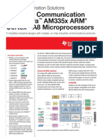 TI - Texasd Instruments - sprt621a - Industrial Communication ® TM with Sitara AM335x ARM Cortex TM -A8 Microprocessors