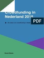 DK - Crowdfunding in NL 2015 Update