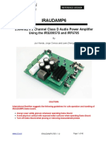 iraudamp6 - 250W/8Ω x 2 Channel Class D Audio Power Amplifier Using the IRS20957S and IRF6785