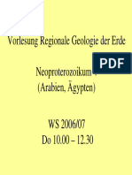 Regionale Geologie Neoproterozoikum 3 Arabien Aegypten
