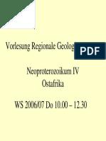 Regionale Geologie Neoproterozoikum 4 Ostafrika